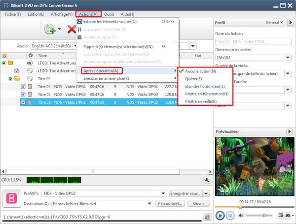 Xilisoft DVD en DPG Convertisseur